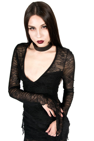 Vintage Web of Lies Mesh Top-Tops-Lip Service