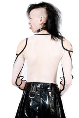 Vintage Fascist Fishnet Top-Tops-Lip Service