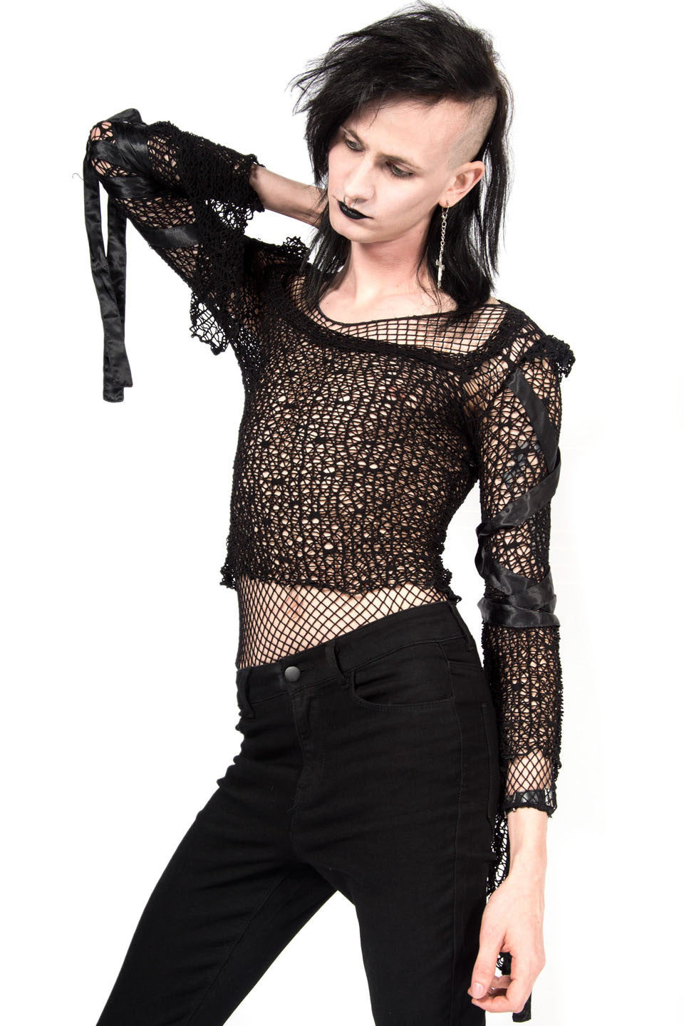 Vintage Fetish Unisex Web Mesh Top-Tops-Lip Service