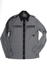 Vintage Suspect Device Military Shirt-Tops-Lip Service
