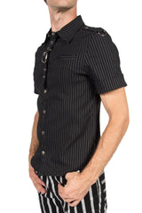 Vintage Gangster Prankster Pinstriped Shirt-Tops-Lip Service