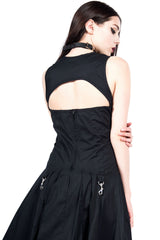 Vintage Long Black Goth Gown-Dresses-Lip Service