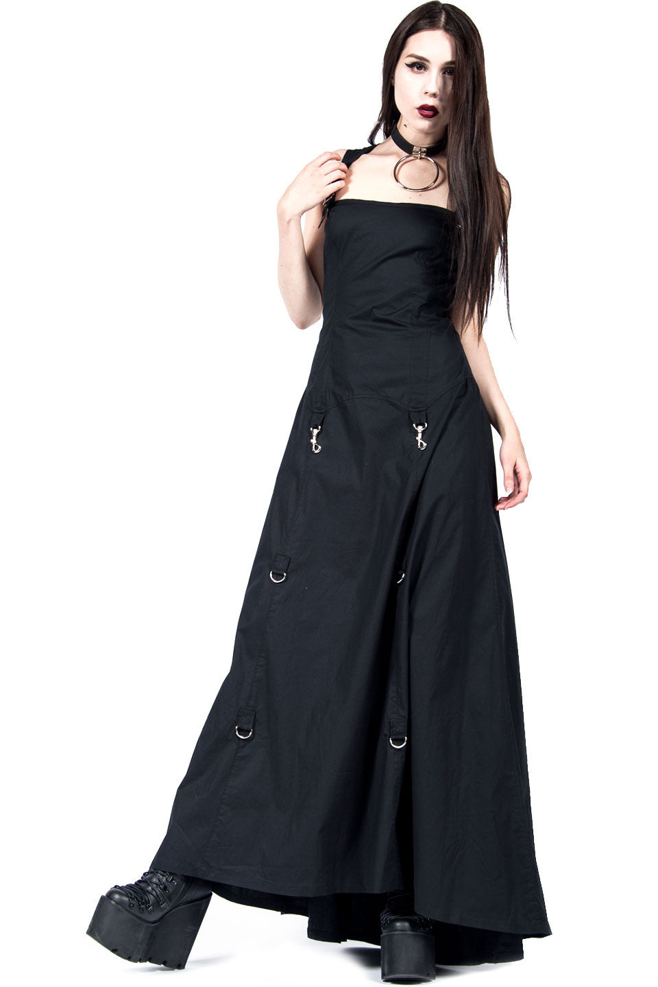 Lip Service Vintage Long Black Goth Gown