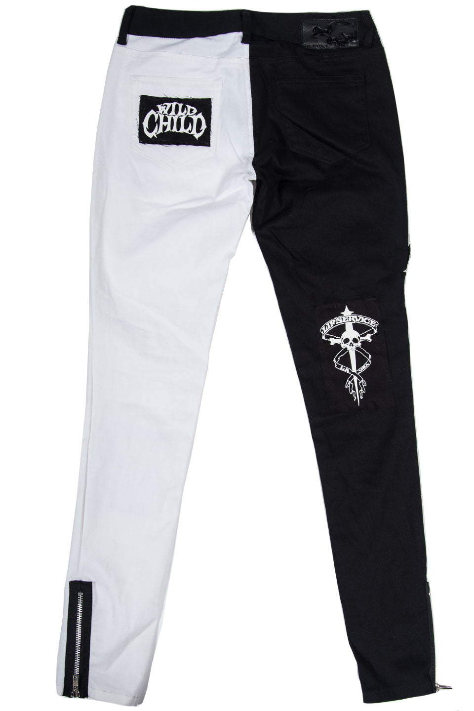 Vintage Punk & Disorderly Patch Jean-Bottoms-Lip Service