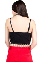 Vintage Chain Crop Top-Tops-Lip Service