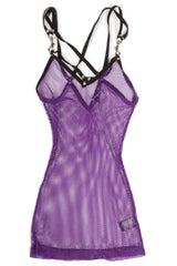 Vintage Purple Fishnet Tank Top-Tops-Lip Service
