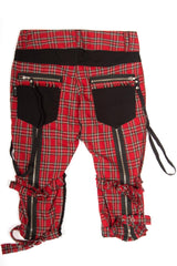 Vintage Punk & Disorderly Red Capri Pants-Bottoms-Lip Service
