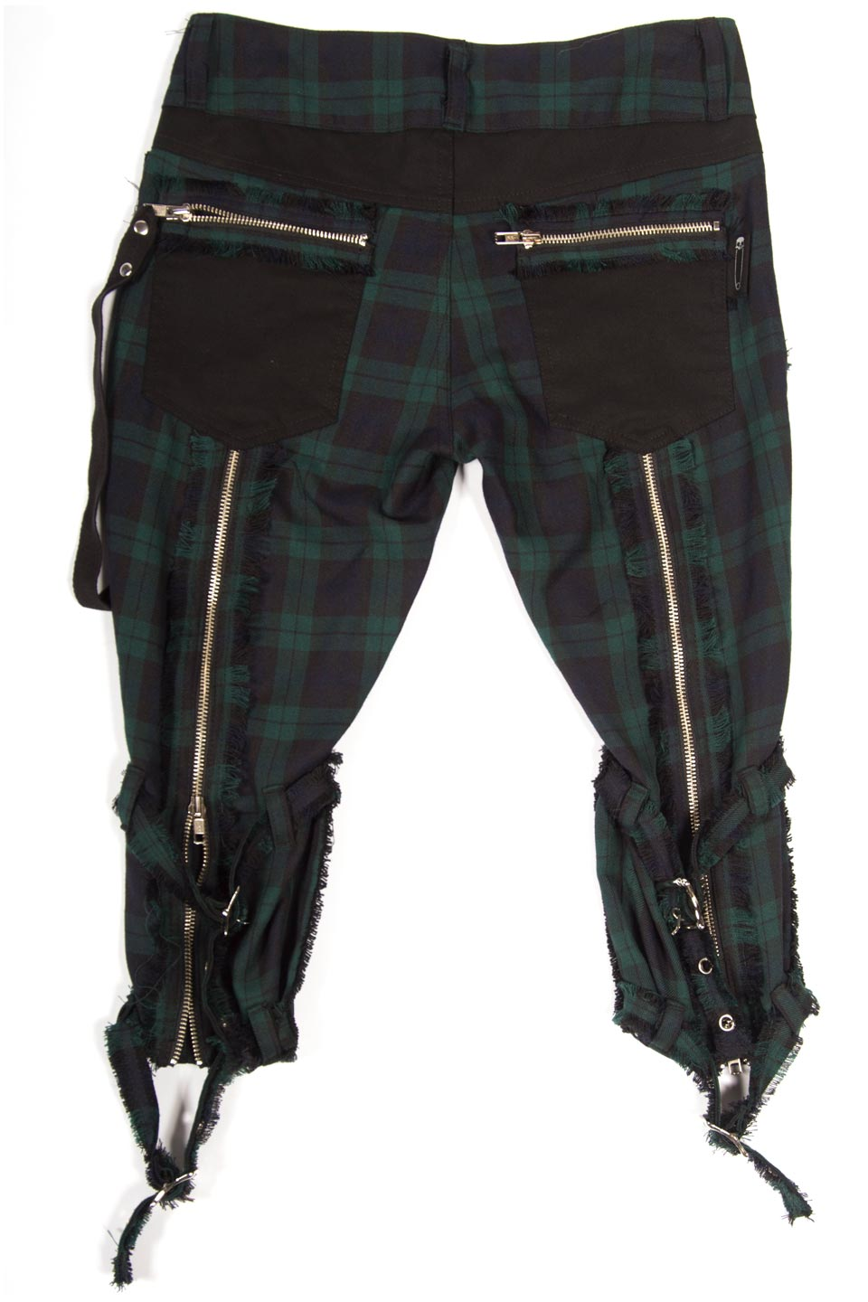 Vintage Punk & Disorderly Green Capri Pants-Bottoms-Lip Service