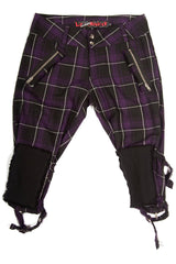 Vintage Punk & Disorderly Purple Capri Pants-Bottoms-Lip Service