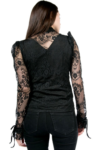 Vintage Blacklist Lace Blouse-Tops-Lip Service