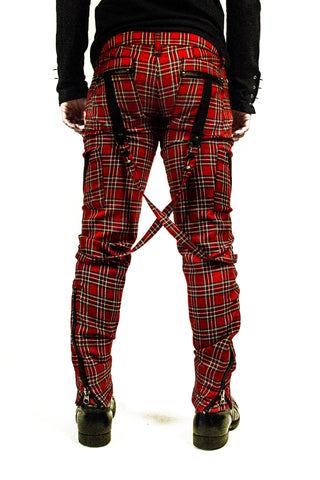 Plaid Bondage Pants-jeans-Lip Service