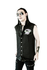 Fearleader Squad Sleeveless Shirt-Tops-Lip Service