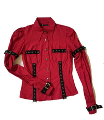 Ladies Work Shirt-Tops-Lip Service
