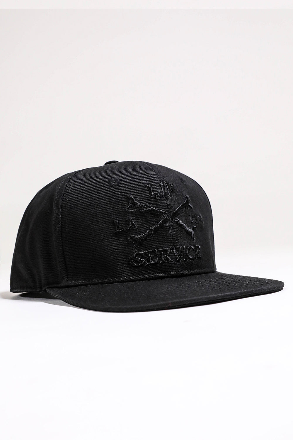 Cross Bones Snapback Baseball Hat B/B-Accessories-Lip Service