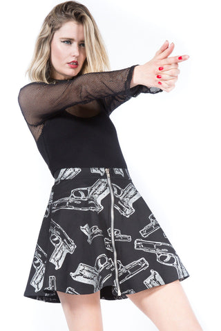 Vintage Guns Suck Skirt