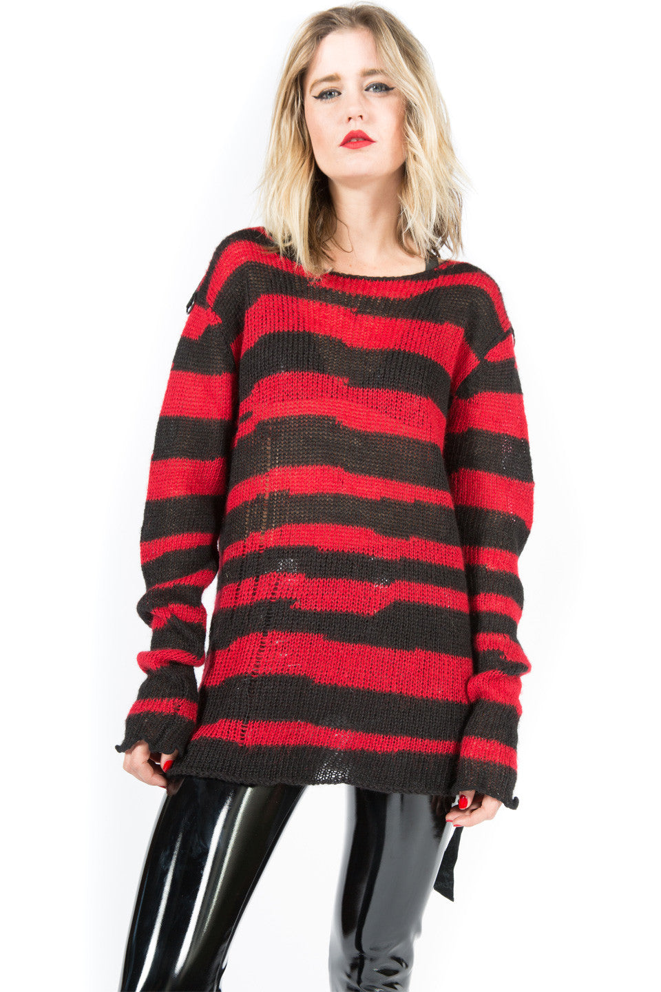 Vintage Nevermind the Mohair Striped Sweater-Tops-Lip Service
