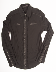 Mens Blacklist Dress Shirt-Tops-Lip Service