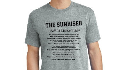 "THE SUNRISER ""LAWS OF DRUM CORPS"" T Shirt"
