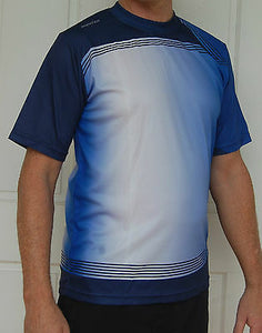 Sporting, Clothing, Cycling Bike Jersey Shirt Mens (Blue/White)