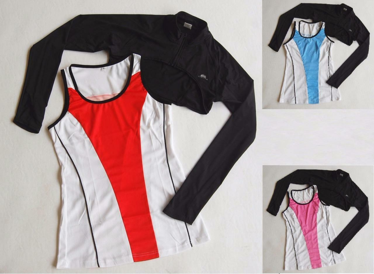 Women's sleeveless jersey top & shrug jacket