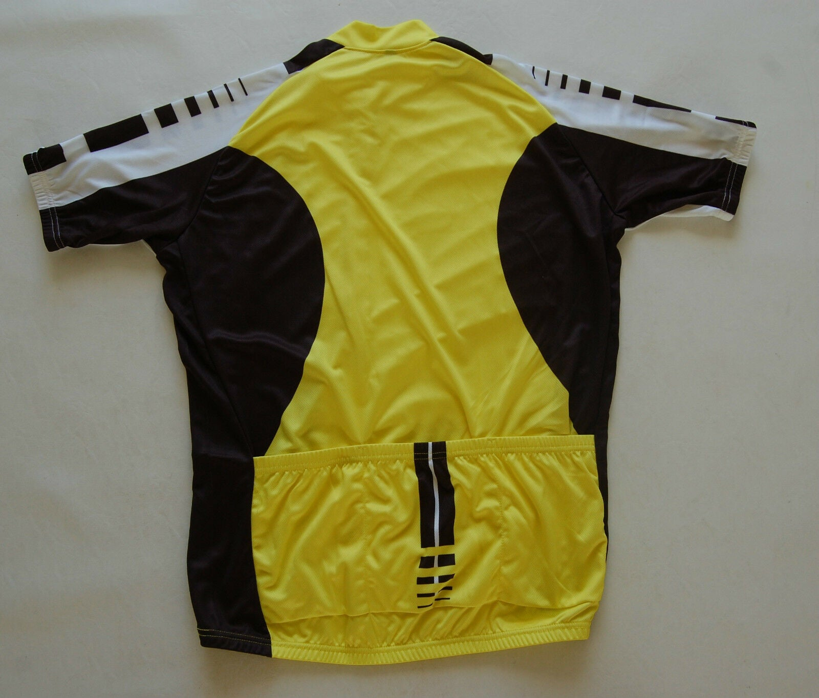 Cycling Sport Clothing Jersey Unisex (Yellow, Black & White)
