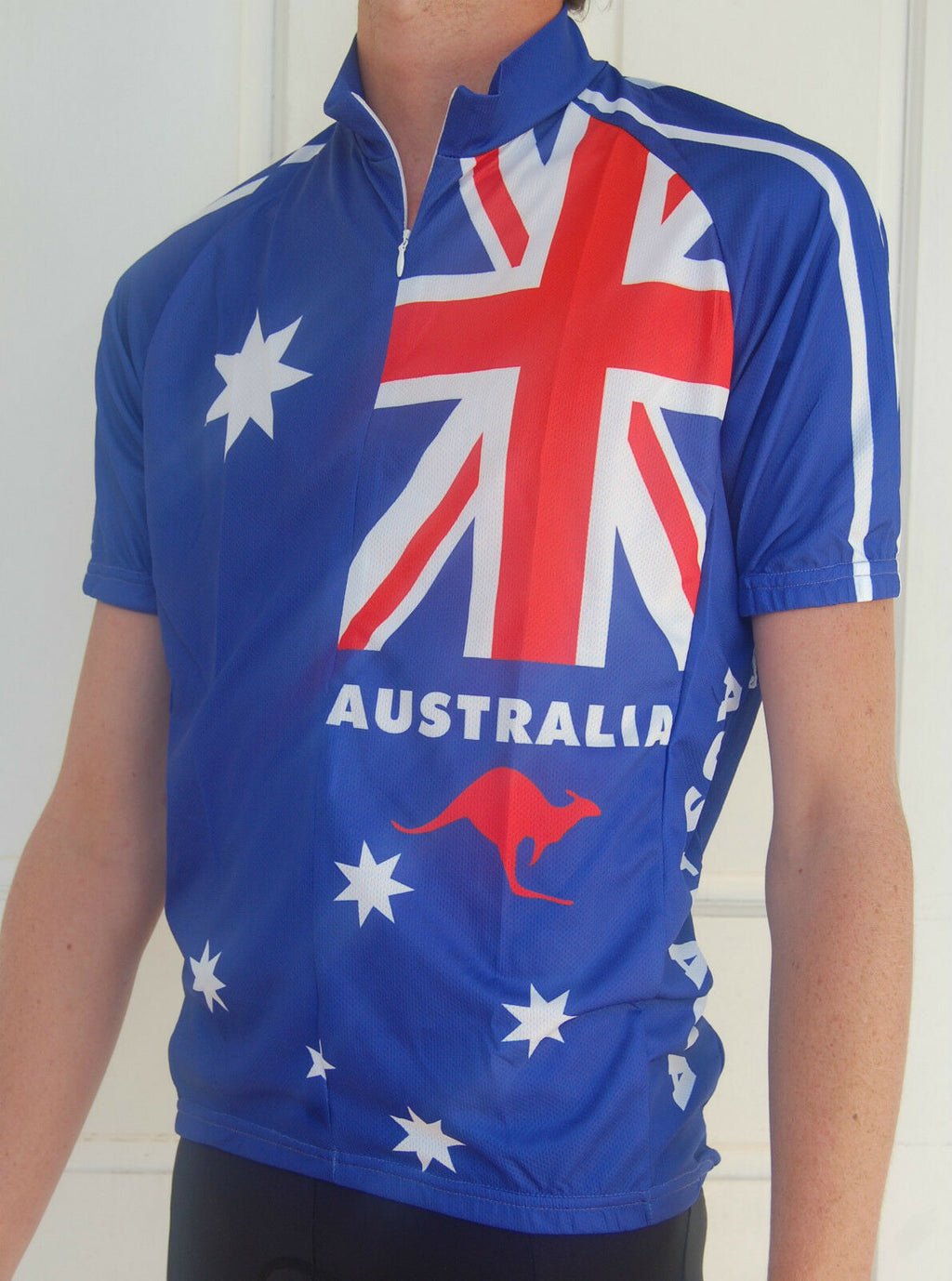 Unisex Australia flag jersey (Blue, Red & White)