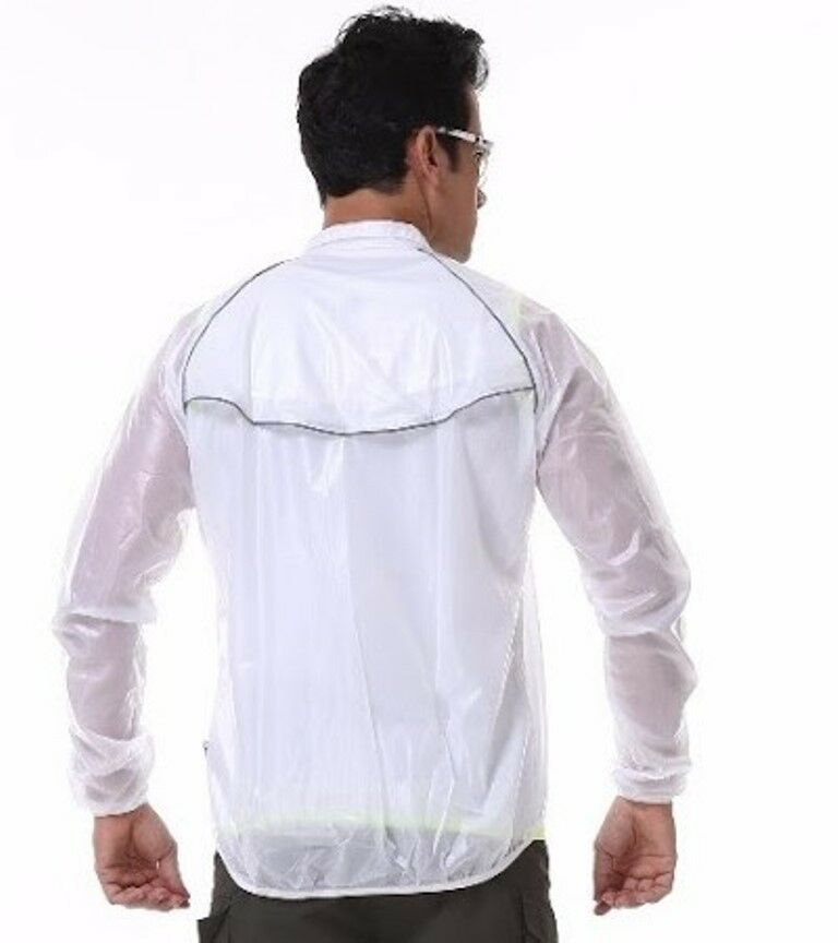 Sporting Clothing Cycling Bicycle Accessories Cycling Jacket Unisex (Clear White)