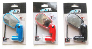 Adjustable cycling rear view mirror