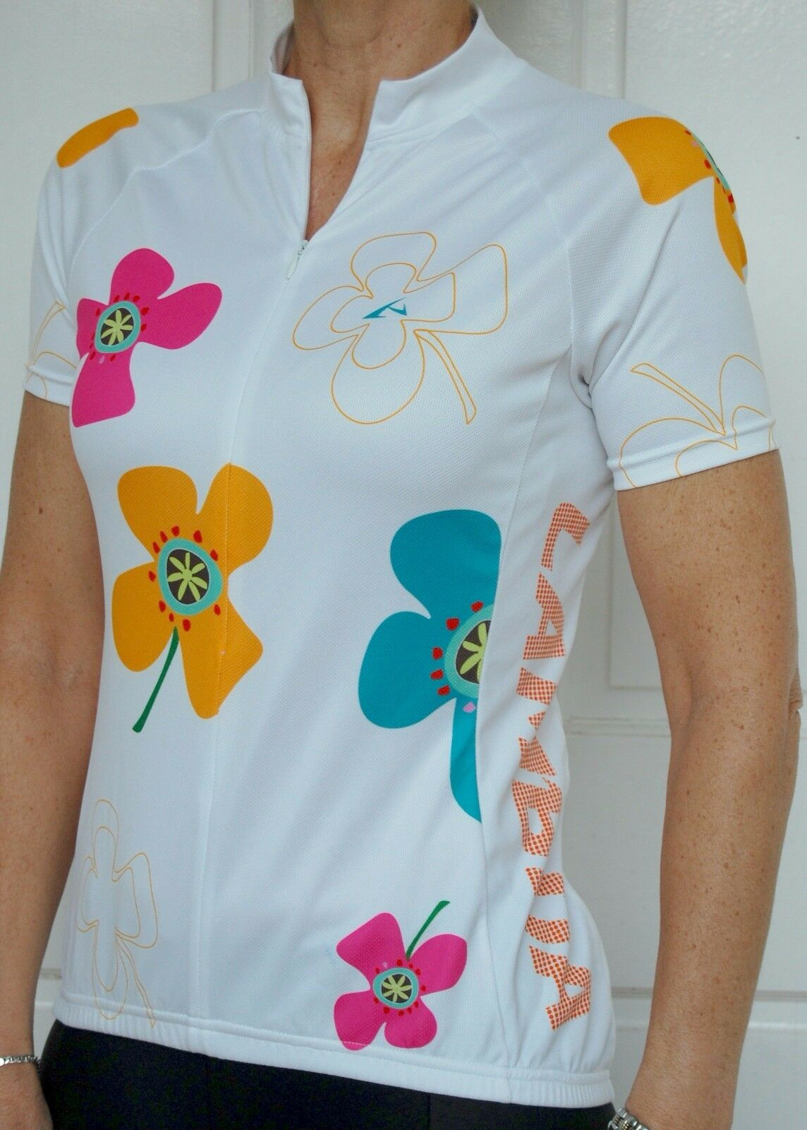 Lambda Womens Cycling Bike Jersey (Flowers)