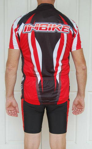 Sporting Clothing Cycling Bicycle Jersey Pants Knicks Kit Mens (Red/Black)