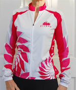 Cycling Sport Clothing Jersey Jacket Ladies Women (White & Pink/Red design)