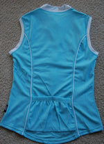 Sleeveless cycling jersey (Light Blue)