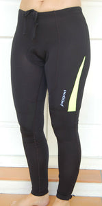 Unisex Fleeced Pants Knicks leggins (Black-Lime)