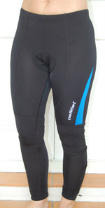 Unisex Fleeced Pants Knicks leggins (Black-Blue)