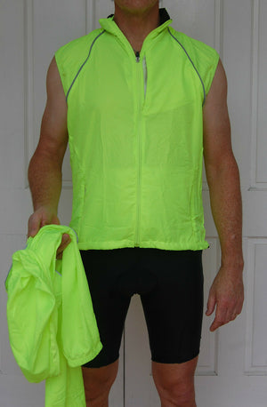 Unisex Rain Jacket (Fluro Yellow)
