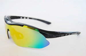 Accessories, Sports Cycling Sunglasses Unisex (White with Black & Red Trim or Black )