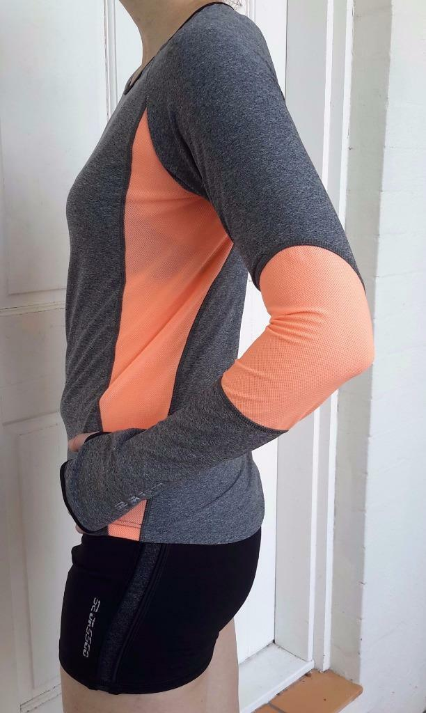 Womens Sports Clothing,long sleeve (Coral & Grey)