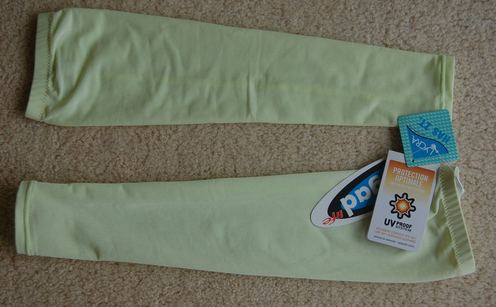 Unisex Arm Covers (Pale Green/yellow)
