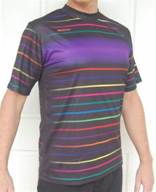 Sporting, Clothing, Cycling Bike Jersey Shirt Mens (Striped)