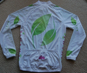 Ladies Womens Jersey/Jacket (White, Green & Purple)