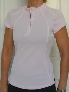 Short sleeved cycling jersey (Pale Pink)