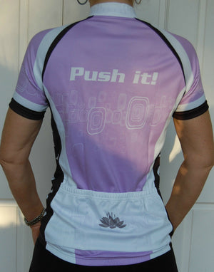 Cycling Sport Clothing Jersey Ladies Women (Purple)