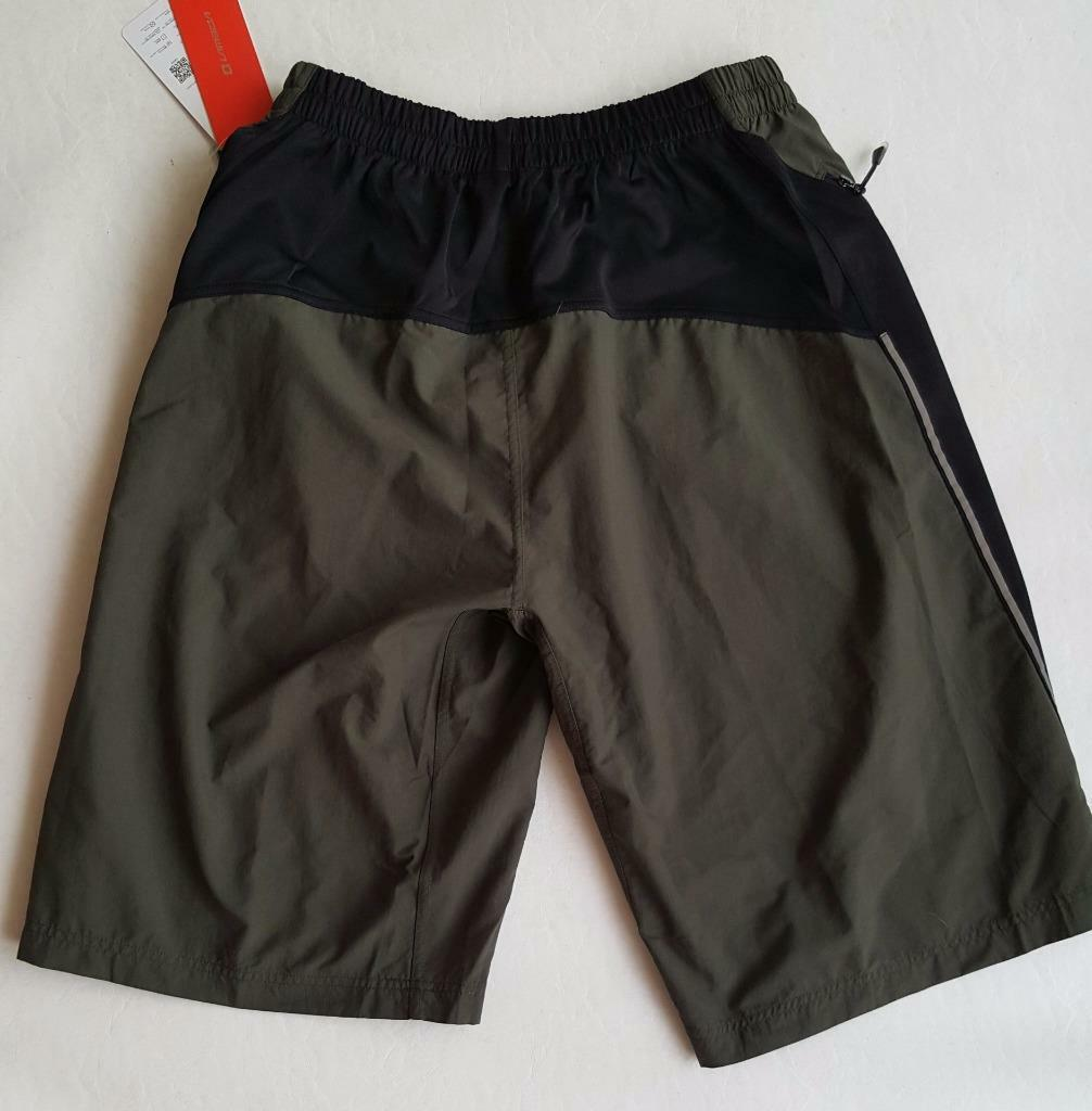 Sporting Clothing Cycling Bike Shorts Unisex (Black & Army Green)