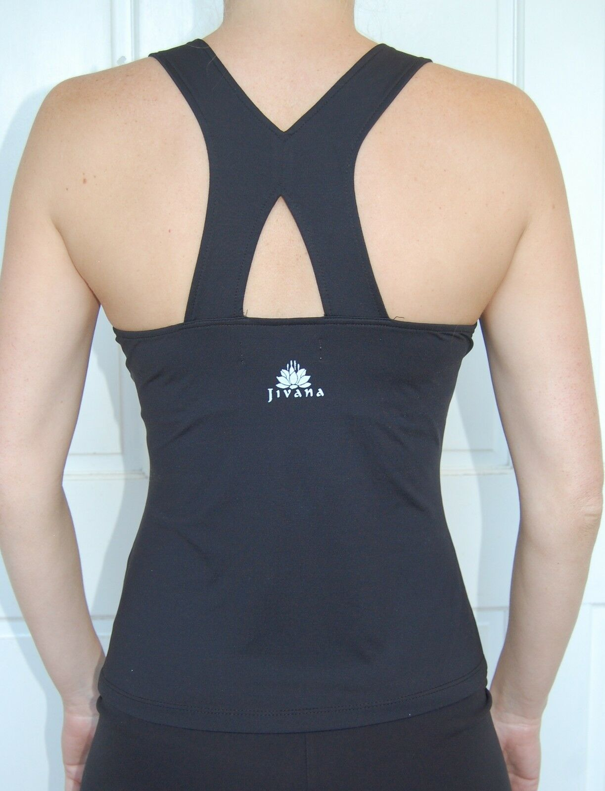 Sporting Clothing Gym Fitness Yoga Top Ladies Womens (Black)*