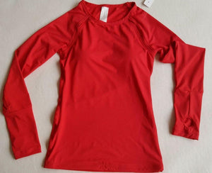 Womens Sports Clothing,long sleeve (Red, White, Black)