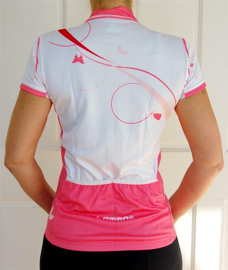 Women's Cycling Bike Jersey  (Coral & White)