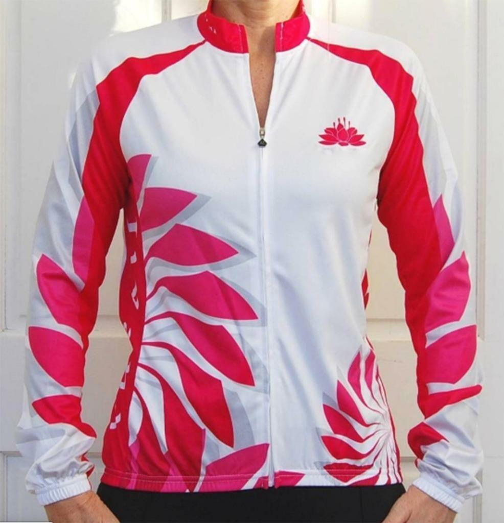 Women's Cycling Bike Jersey / Sport Jacket (White & Pink)