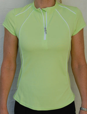 Short sleeved cycling jersey (Lime Green)