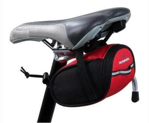 Cycling Bike Bicycle Seat Saddle Bag  Red & Black