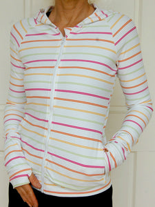 Womens Sports Clothing (White with coloured stripes) I